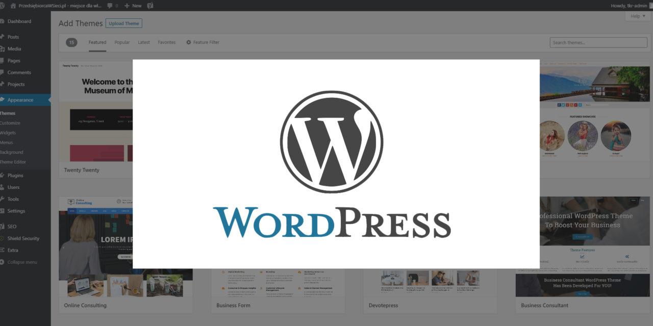 WordPress – najlepsze narzędzie na strony wizytówki