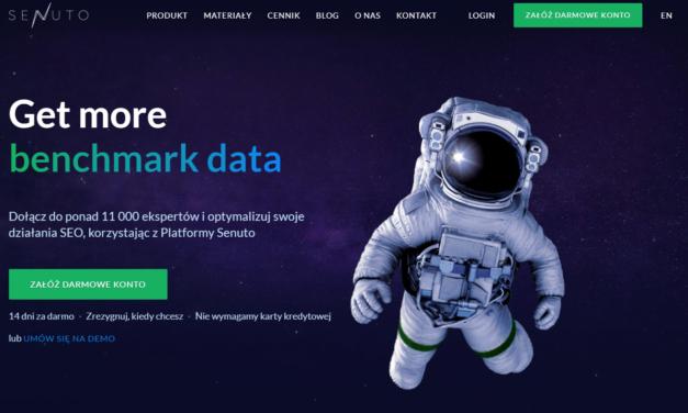 Senuto.pl – narzędzie wspierające pozycjonowanie, monitorowanie i analizę konkurencji